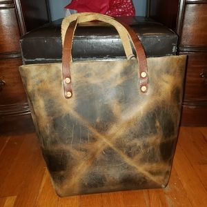 KMM & CO Crazy Horse Leather Tote